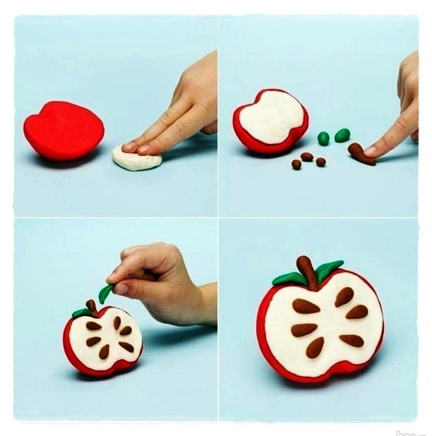 Яблоко из солёного теста мастер класс
