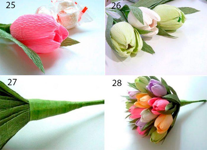 Букет из конфет тюльпаны своими руками мастер класс