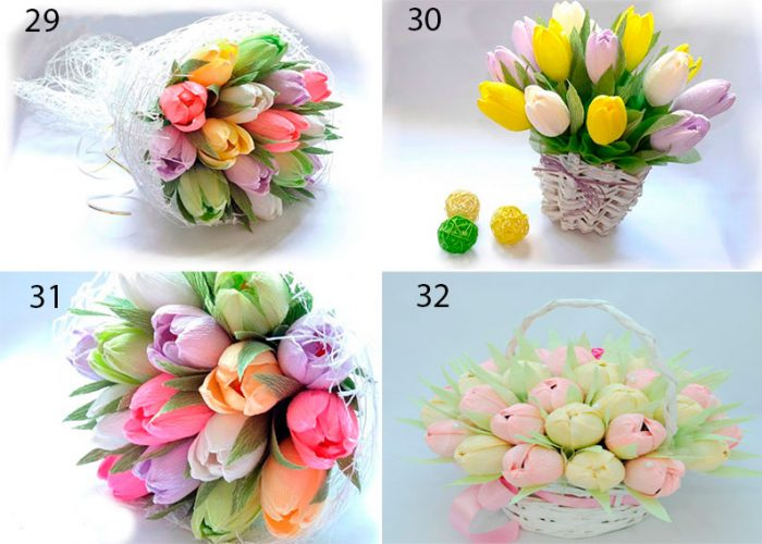A bouquet of candy tulips do-it-yourself master class