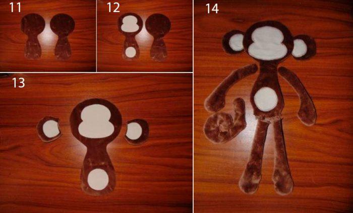 Мягкая игрушка обезьянка мастер класс
