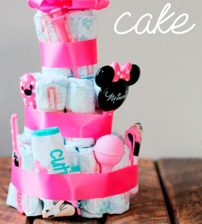 Торт из памперсов в стиле «Дисней»