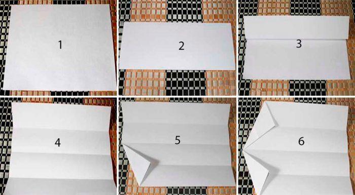 Снежинки в технике оригами мастер класс