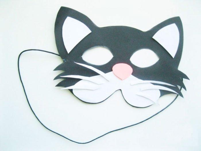 Маска из бумаги «Котик»
