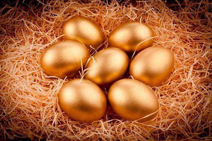 Украшение пасхальных яиц фольгой