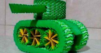 Бумажный танк своими руками