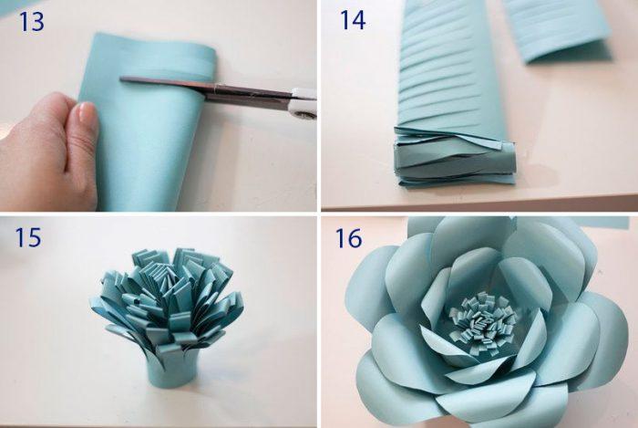 Огромные цветы из бумаги мастер класс