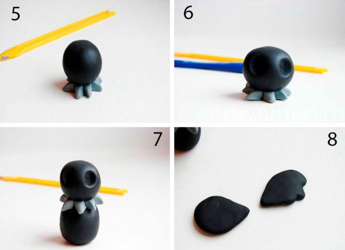 ворон из пластилина своими руками мастер класс