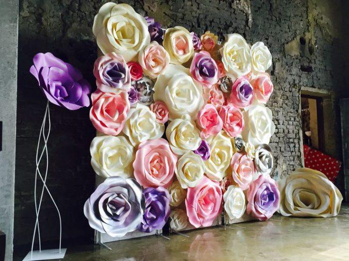 Огромные цветы из бумаги своими руками
