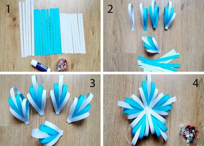 Объемные снежинки из бумаги своими руками мастер-класс
