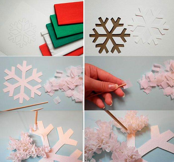 Пушистая снежинка