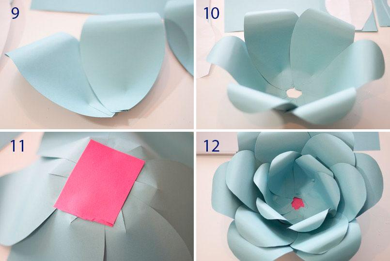 Цветы из бумаги своими руками шаблоны 910