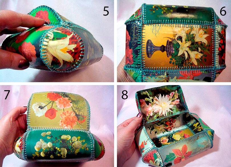 Как сделать из открыток шкатулку, мобильный