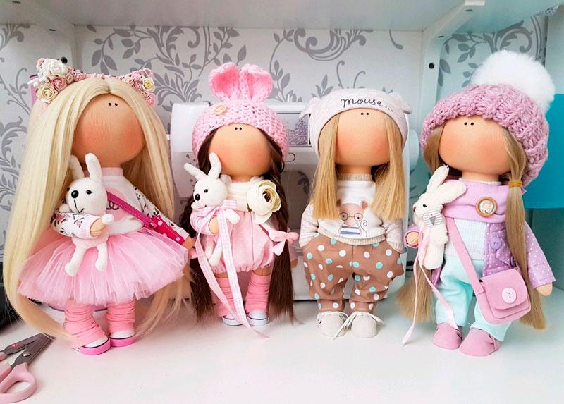 11-6 Кукла своими руками для начинающих. Мастер класс, выкройки с пошаговым описанием из ткани, колготок, носка, ниток, пластиковых бутылок, бумаги. Фото