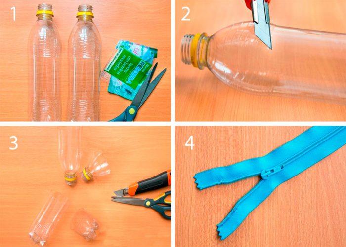 Пенал из пластиковых бутылок мастер-класс