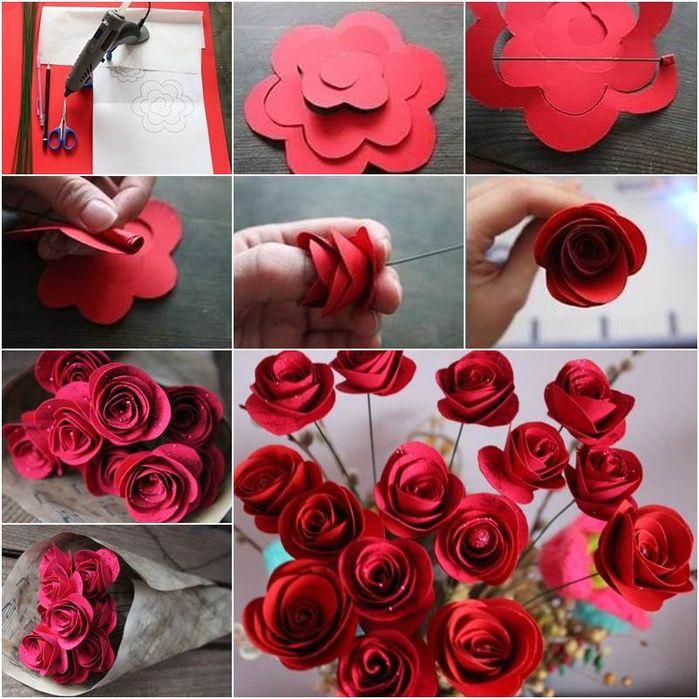 розы из бумаги своими руками пошаговый мастер-класс