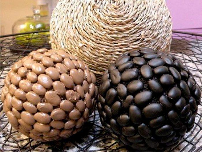 Декоративный шар из фасоли своими руками мастер-класс