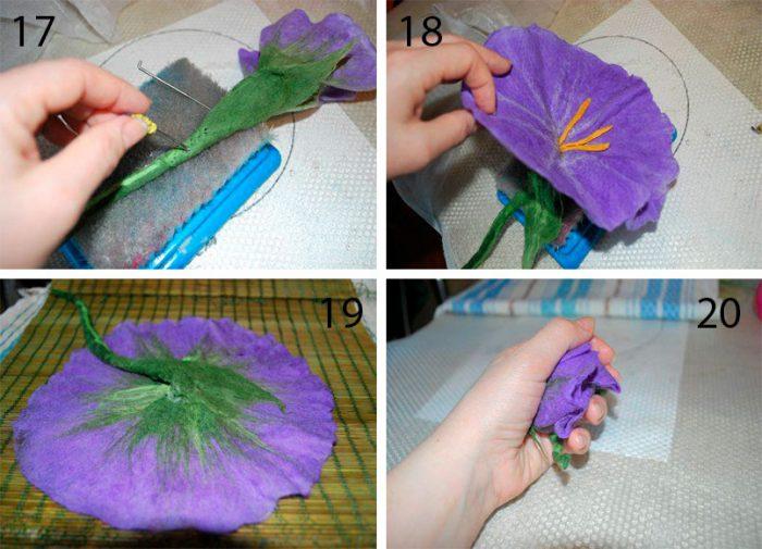 Валяние цветов из шерсти своими руками пошаговый мастер-класс
