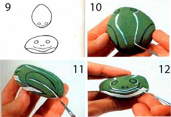 лягушка нарисованная на камне мастер-класс