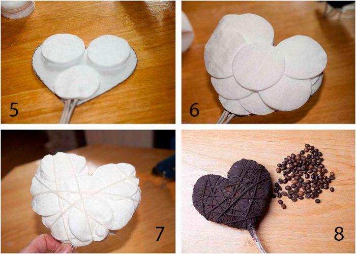 Сердце из кофе топиарий мастер-класс