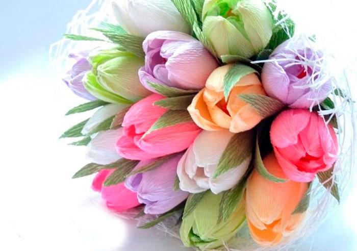 Тюльпаны из конфет своими руками мастер-класс
