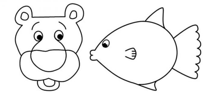 Лев и рыбка из листьев аппликация мастер-класс