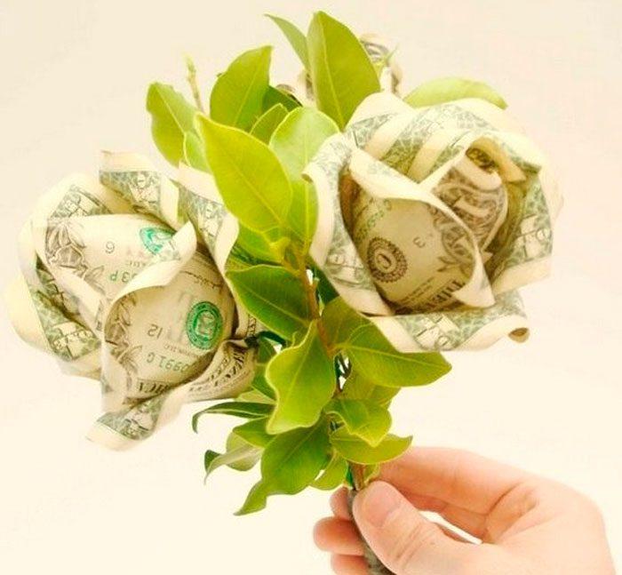 Розы из денег своими руками мастер-класс