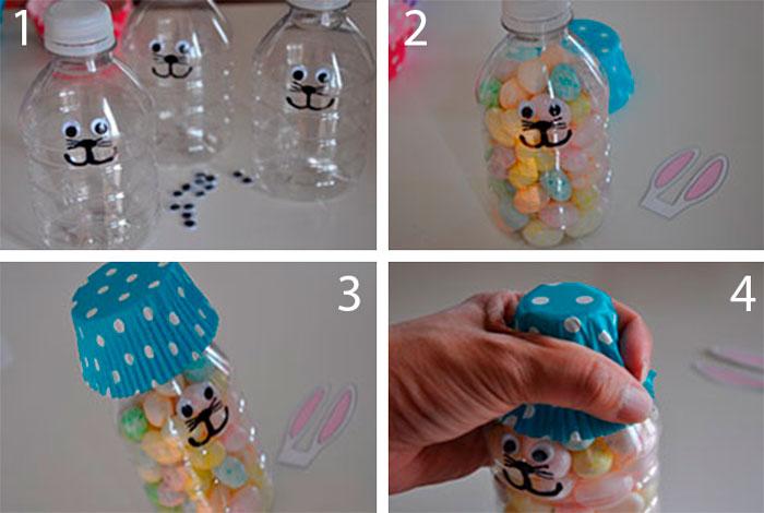 Зайчик из пластиковой бутылки мастер-класс