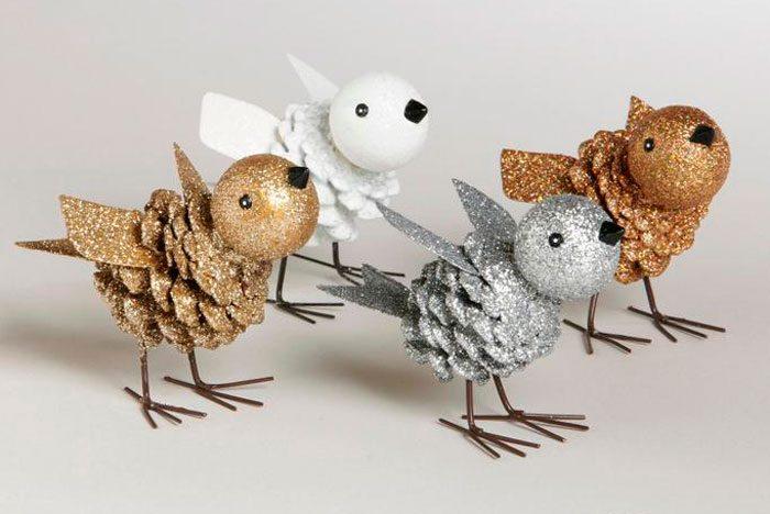 Блестящая птица из шишки своими руками пошаговый мастер-класс