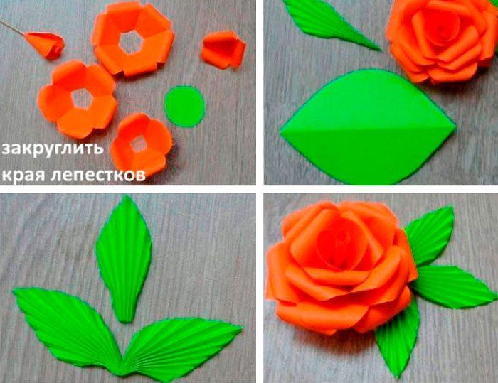 6-19-700x539 Цветы из подручных материалов своими руками – фото, мастер-класс