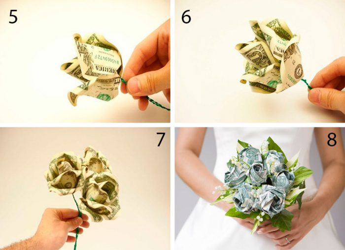 Roses out of money do-it-yourself workshop