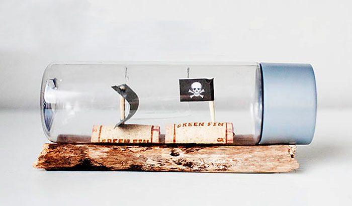 Пиратские кораблики в бутылке мастер-класс