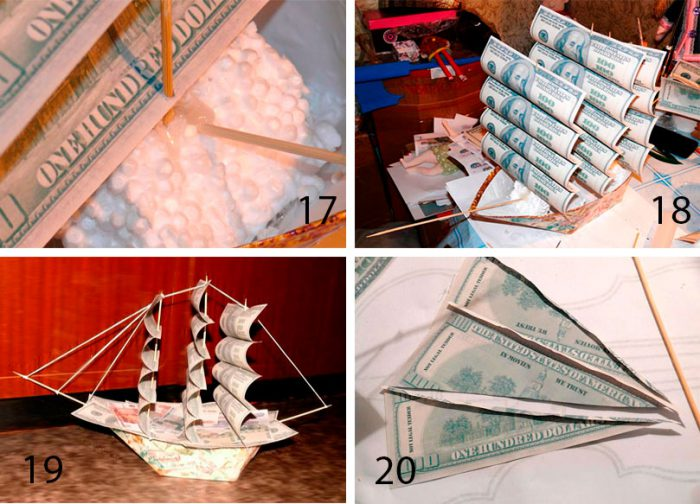 A ship from the money with their own hands a master class