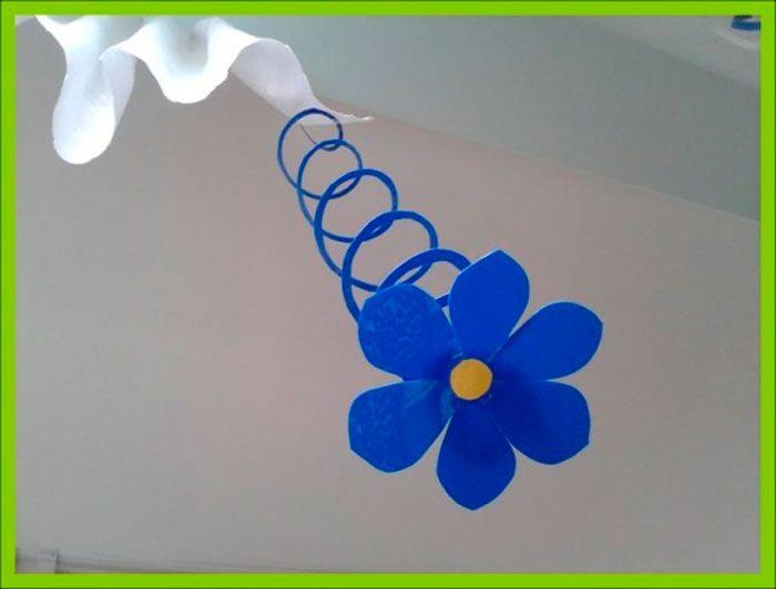 Подвесные цветы из крышек своими руками мастер-класс