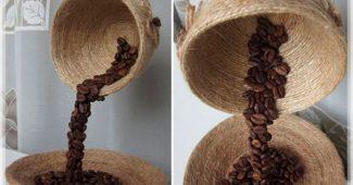Парящая чашка из кофейных зёрен своими руками пошаговый мастер-класс