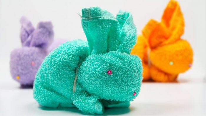 Пасхальный заяц из махрового полотенца пошаговый мастер-класс