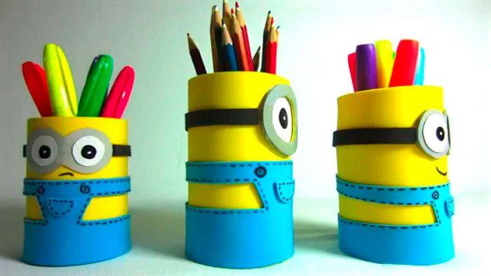 Миньон карандашница своими руками пошаговый мастер-класс