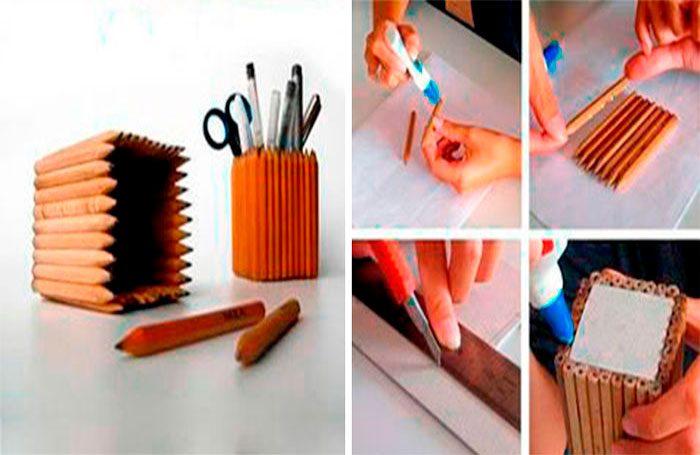 Карандашница из карандашей своими руками пошаговый мастер-класс