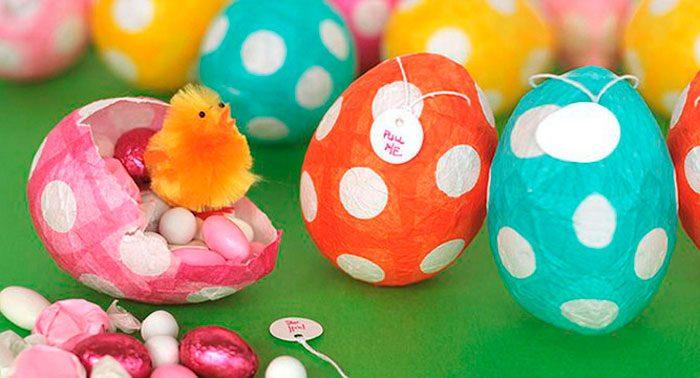 Маленькое яйцо папье маше