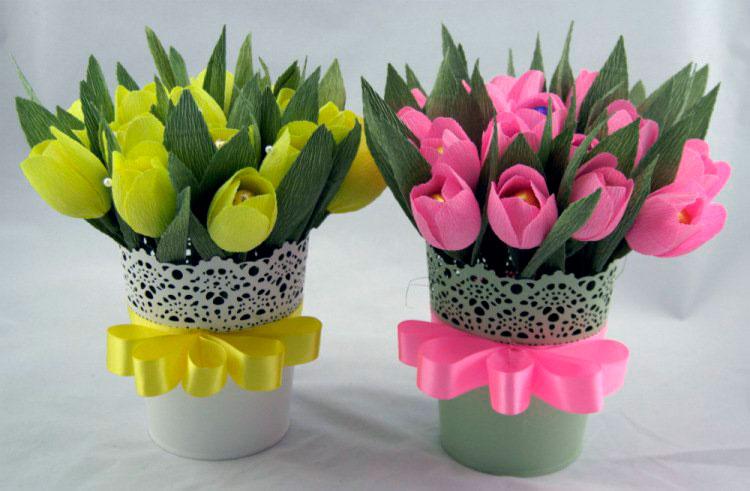 1-13 Тюльпаны своими руками. Тюльпан из бумаги своими руками
