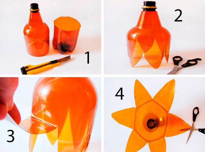 пальма из пластиковых бутылок мастер-класс