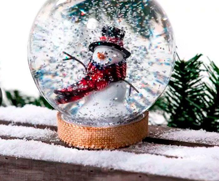 Снежный шар со снеговиком