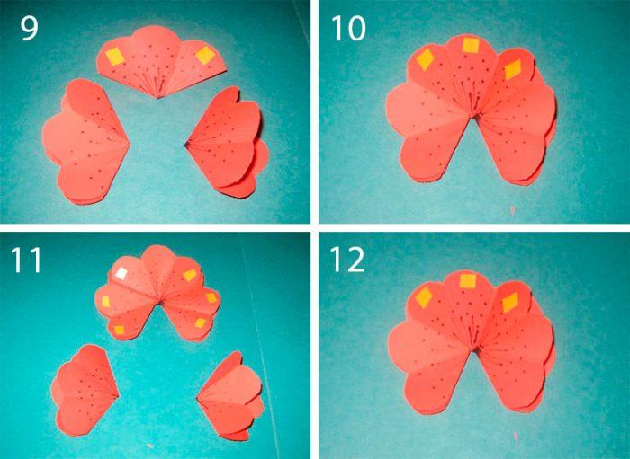 Объемные открытки как сделать схема цветы
