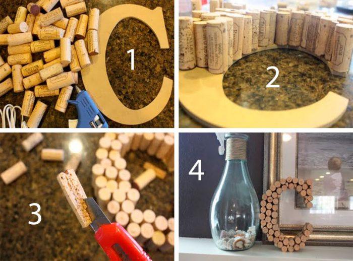 3D буква из винных пробок мастер-класс