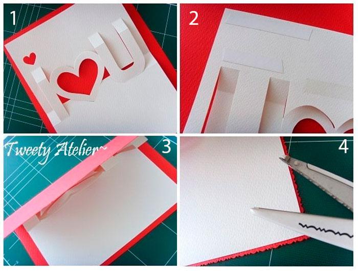 Как сделать открытку из бумаги белой видео