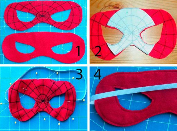 Маска человека – паука, пошаговые мастер-классы