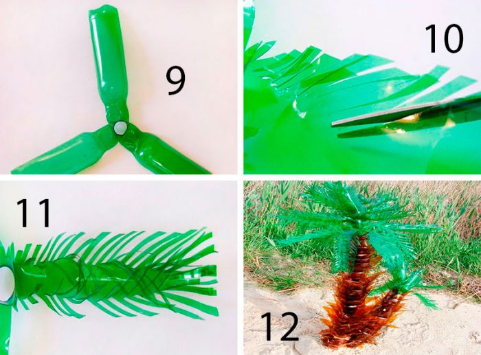 мастер-класс: пальма из пластика