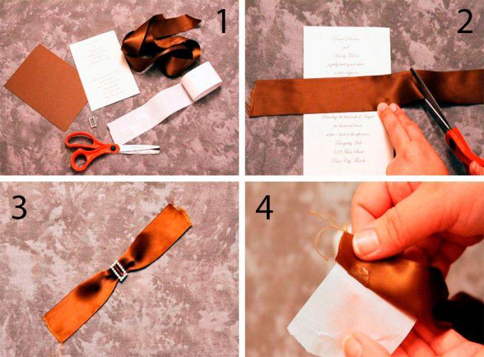 Стильное свадебное приглашение пошаговый мастер-класс