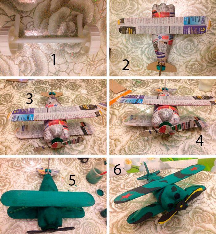 Военный самолёт из пластиковой бутылки, мастер-класс