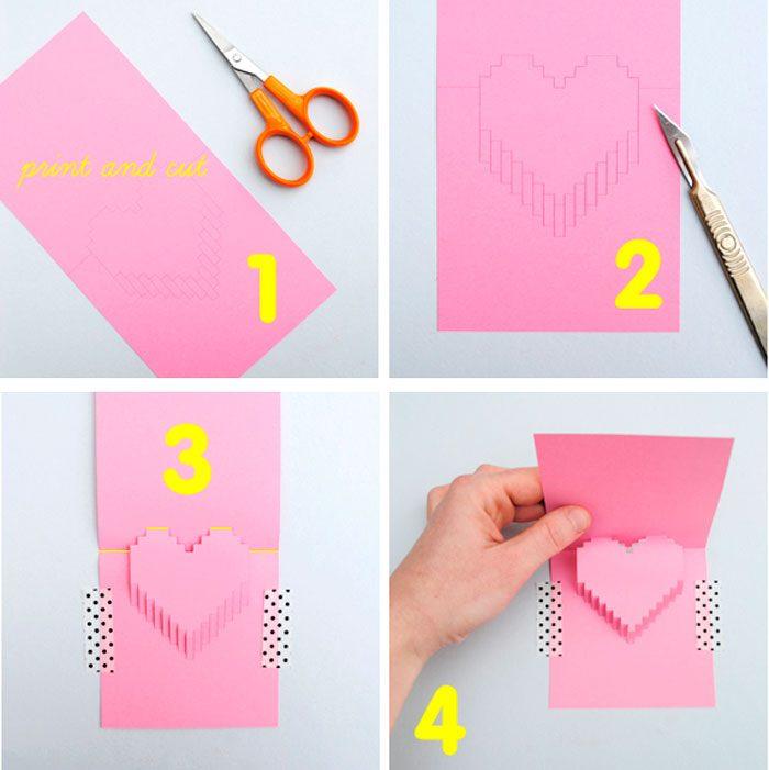 Как сделать объемные открытки