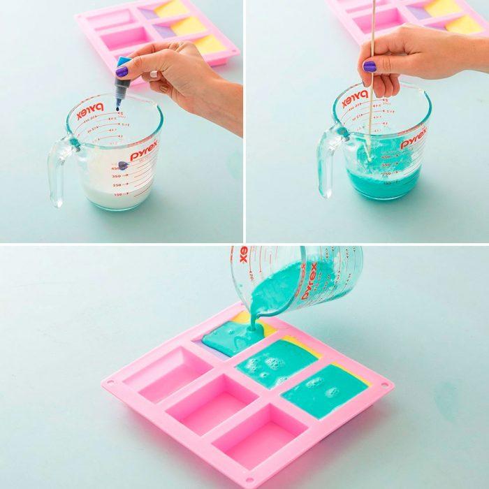 Разноцветное мыло ручной работы  мастер-класс